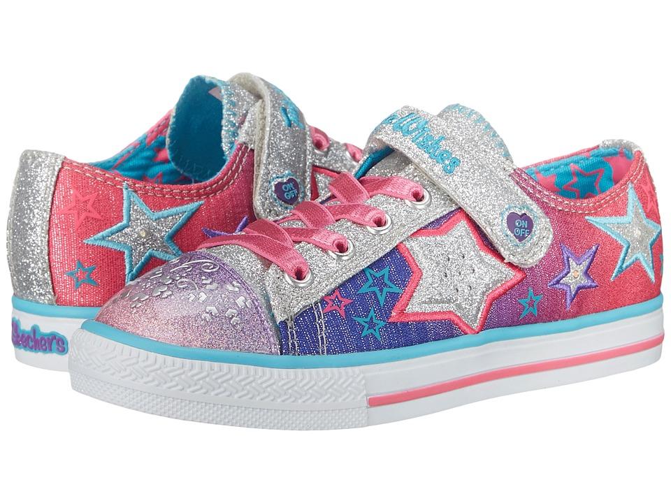 SKECHERS KIDS - Enchanters 10539L Lights (Little Kid) (Multi) Girls Shoes