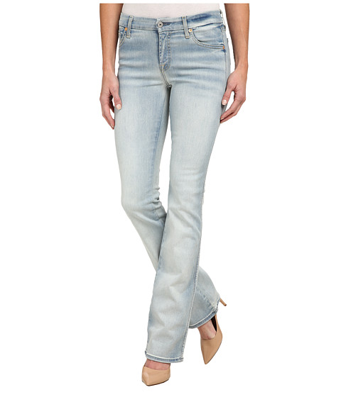 7 For All Mankind - Kimmie Boot in Slim Illusion Bright Ice Blue (Slim Illusion Bright Ice Blue) Women