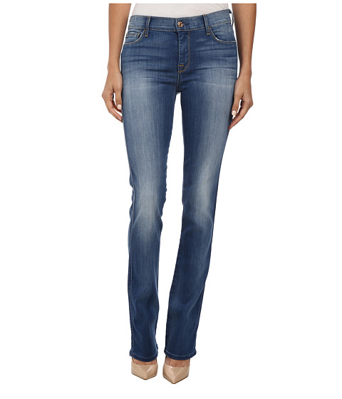 7 For All Mankind - Skinny Boot in Brilliant Azure (Brilliant Azure) Women
