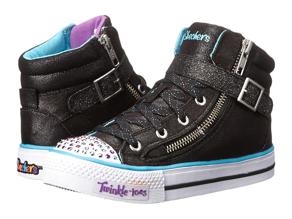 SKECHERS KIDS - Heart Sole 10405L Lights (Little Kid/Big Kid) (Black/Multi) Girls Shoes