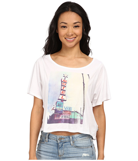 Vans - Little Stay Open Back Tee (White) Women's T Shirt
