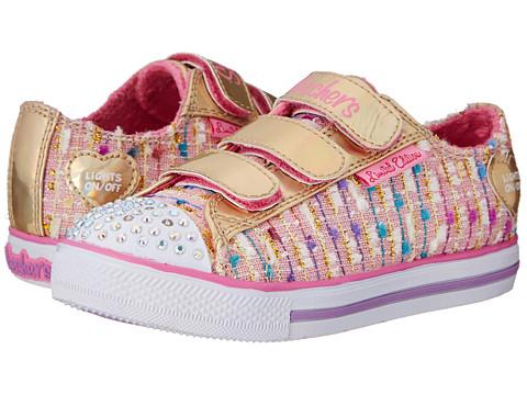 SKECHERS KIDS - Chit Chat 10534L Lights (Little Kid/Big Kid) (Pink/Gold) Girls Shoes