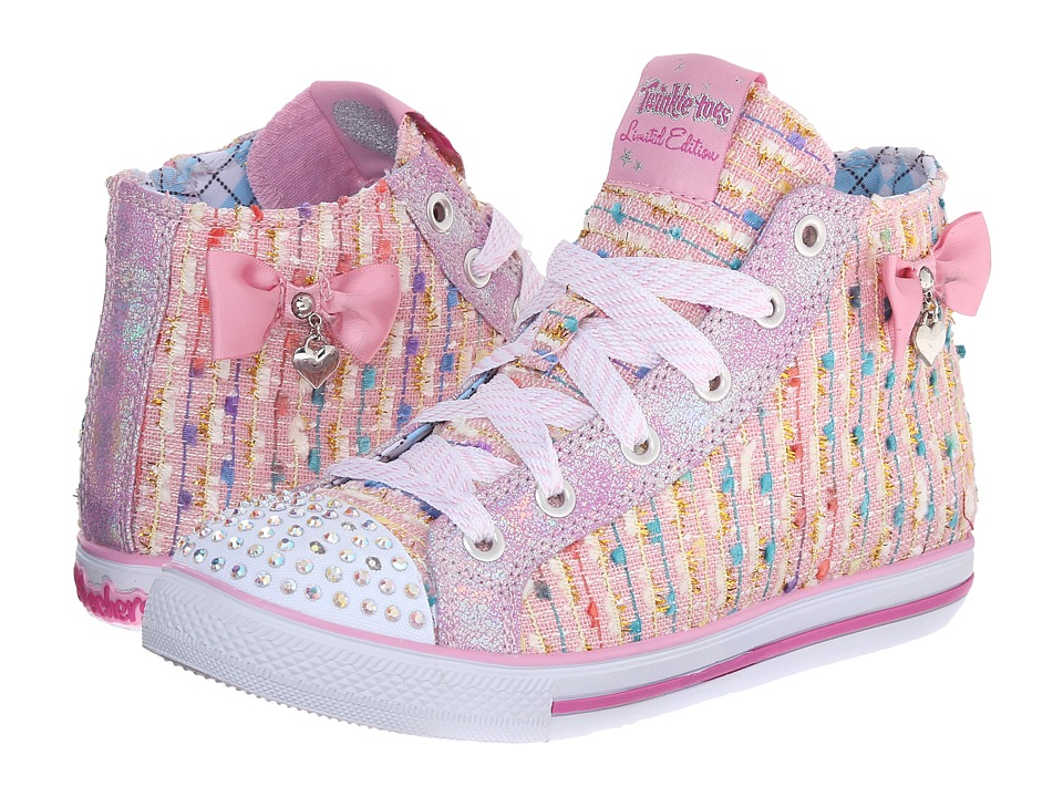SKECHERS KIDS - Chit Chat 10533L Lights (Little Kid/Big Kid) (Pink) Girls Shoes