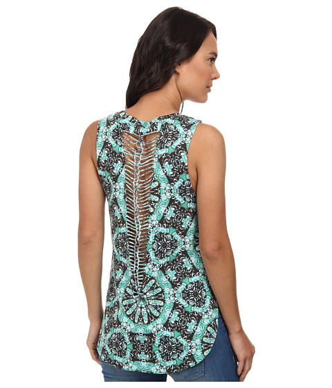 Vans - Shaded and Braided Tunic Tank Top (Sea Green) Women