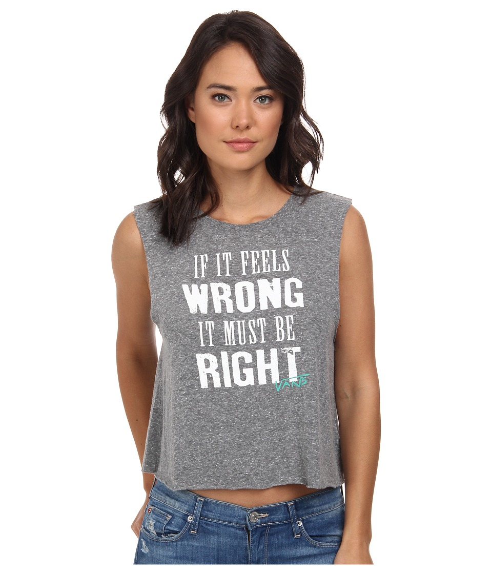 Vans - Wrong Again Cropped Muscle (Grey Heath) Women's Clothing