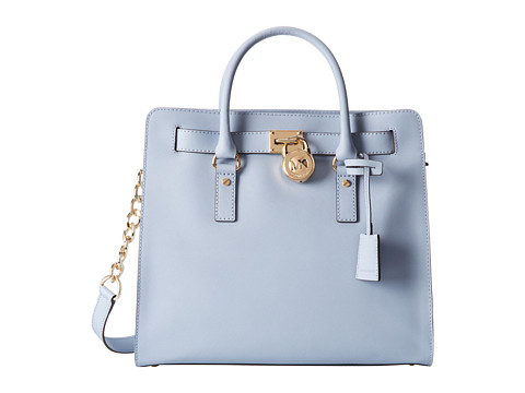 MICHAEL Michael Kors - Hamilton Large North/South Tote (Pale Blue) Tote Handbags