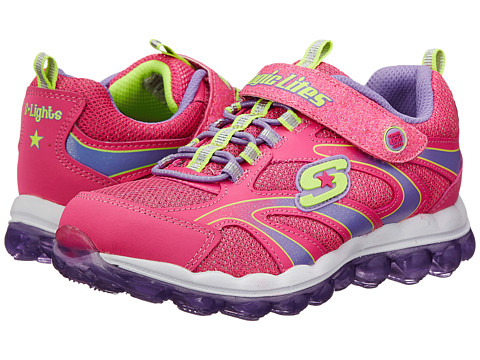 SKECHERS KIDS - S Lights 10505L Lights (Little Kid) (Neon Pink/Lavender) Girls Shoes