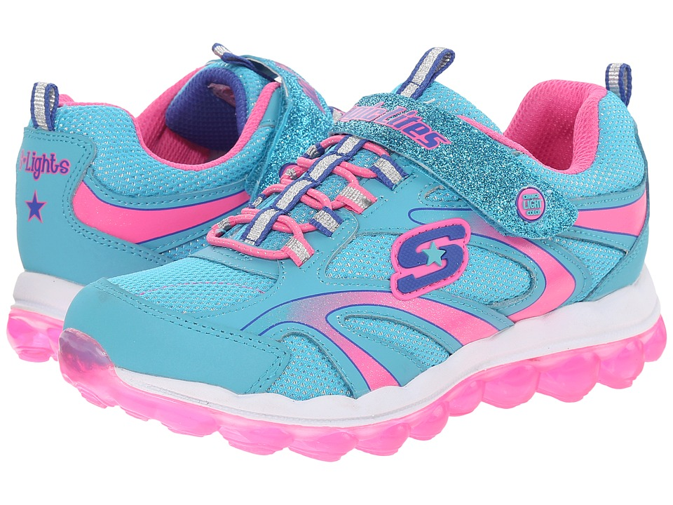 SKECHERS KIDS - S Lights 10505L Lights (Little Kid) (Blue/Multi) Girls Shoes