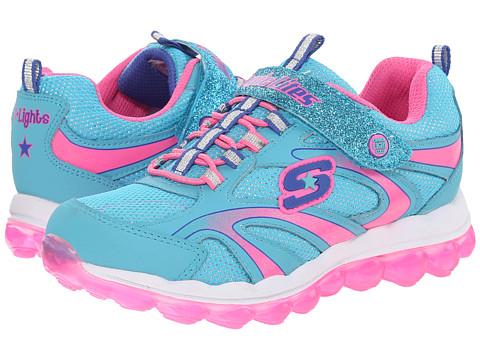 SKECHERS KIDS - S Lights 10505L Lights (Little Kid) (Blue/Multi) Girls Shoes