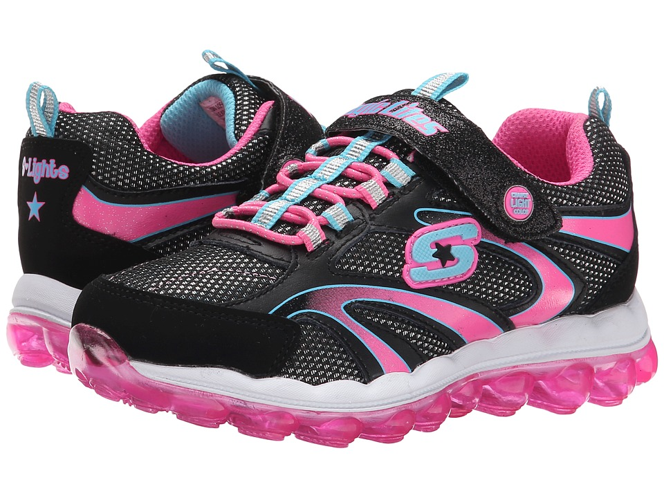 SKECHERS KIDS - S Lights 10505L Lights (Little Kid) (Black/Multi) Girls Shoes