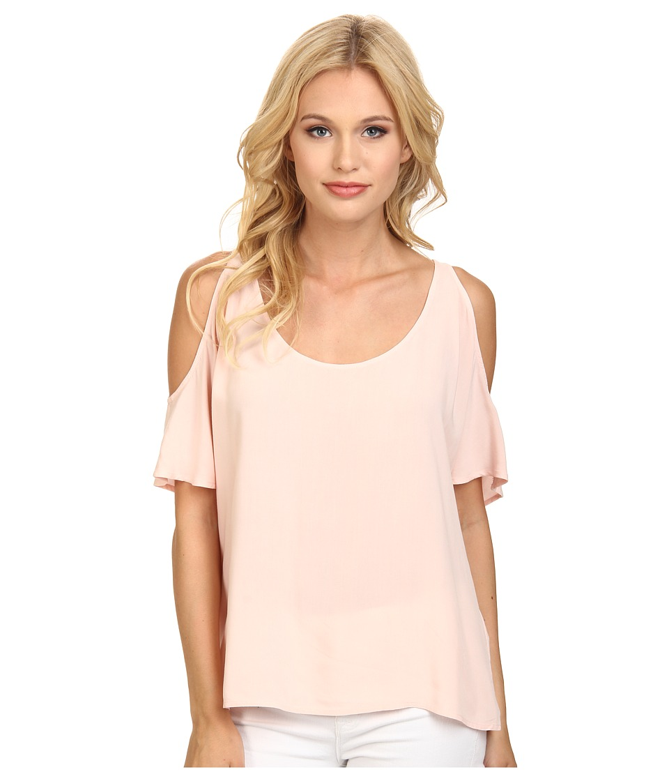 C&C California - Cold Shoulder Top (Seashell Pink) Women's T Shirt