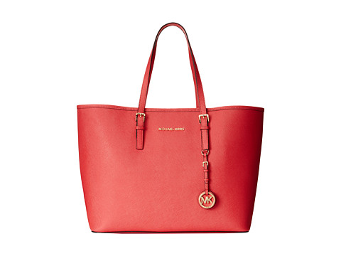 MICHAEL Michael Kors - Saffiano Medium Travel Tote (Watermelon) Tote Handbags
