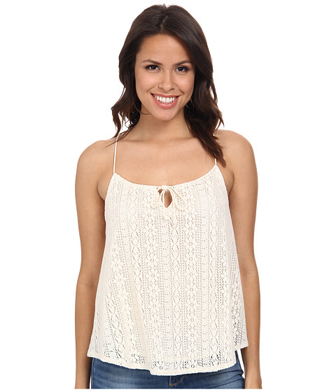 C&C California - Geo Lace Cami Top (Vanilla) Women's Sleeveless