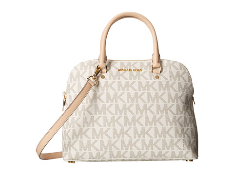 MICHAEL Michael Kors - Cindy Large Dome Satchel (Vanilla) Satchel Handbags
