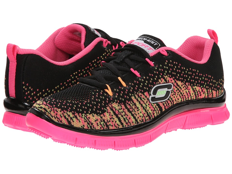 SKECHERS KIDS - Skech Appeal - Talent Flair 81876L (Little Kid/Big Kid) (Black/Multi) Girl's Shoes
