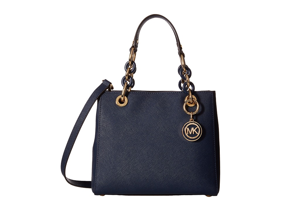 MICHAEL Michael Kors - Cynthia Small North/South Satchel (Navy) Satchel Handbags