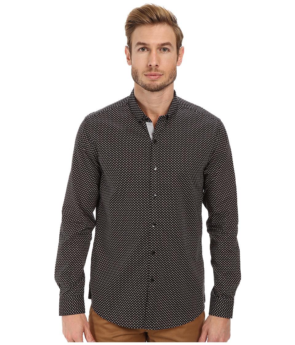 7 Diamonds - Space Between Us Long Sleeve Shirt (Black) Men's Long Sleeve Button Up