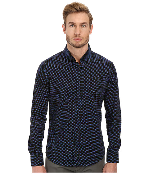7 Diamonds - Vanishing Point Long Sleeve Shirt (Charcoal) Men