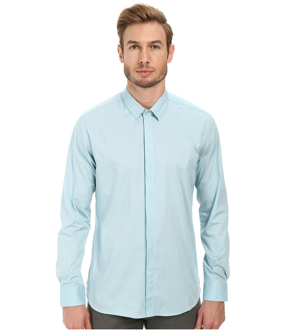 7 Diamonds - Peace Train Long Sleeve Shirt (Sterling Blue) Men's Long Sleeve Button Up