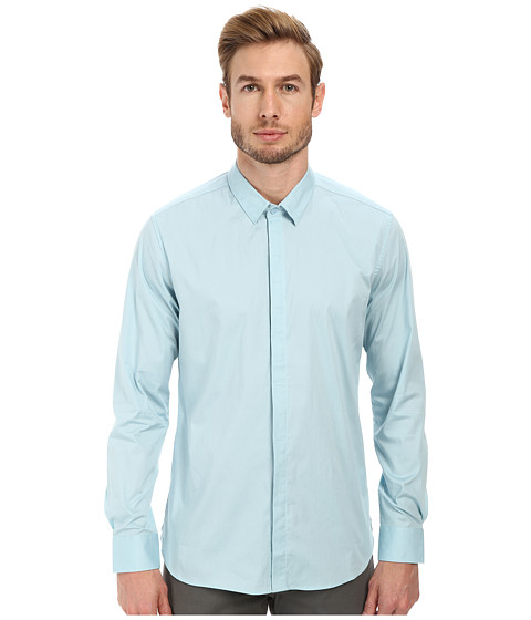 7 Diamonds - Peace Train Long Sleeve Shirt (Sterling Blue) Men