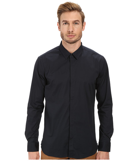 7 Diamonds - Peace Train Long Sleeve Shirt (Charcoal) Men's Long Sleeve Button Up