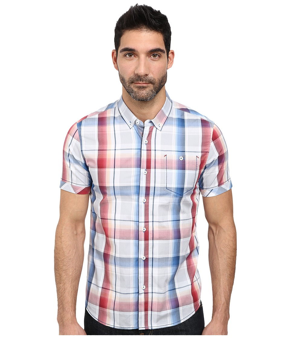 7 Diamonds - Curl Rider Short Sleeve Shirt (Crimson) Men