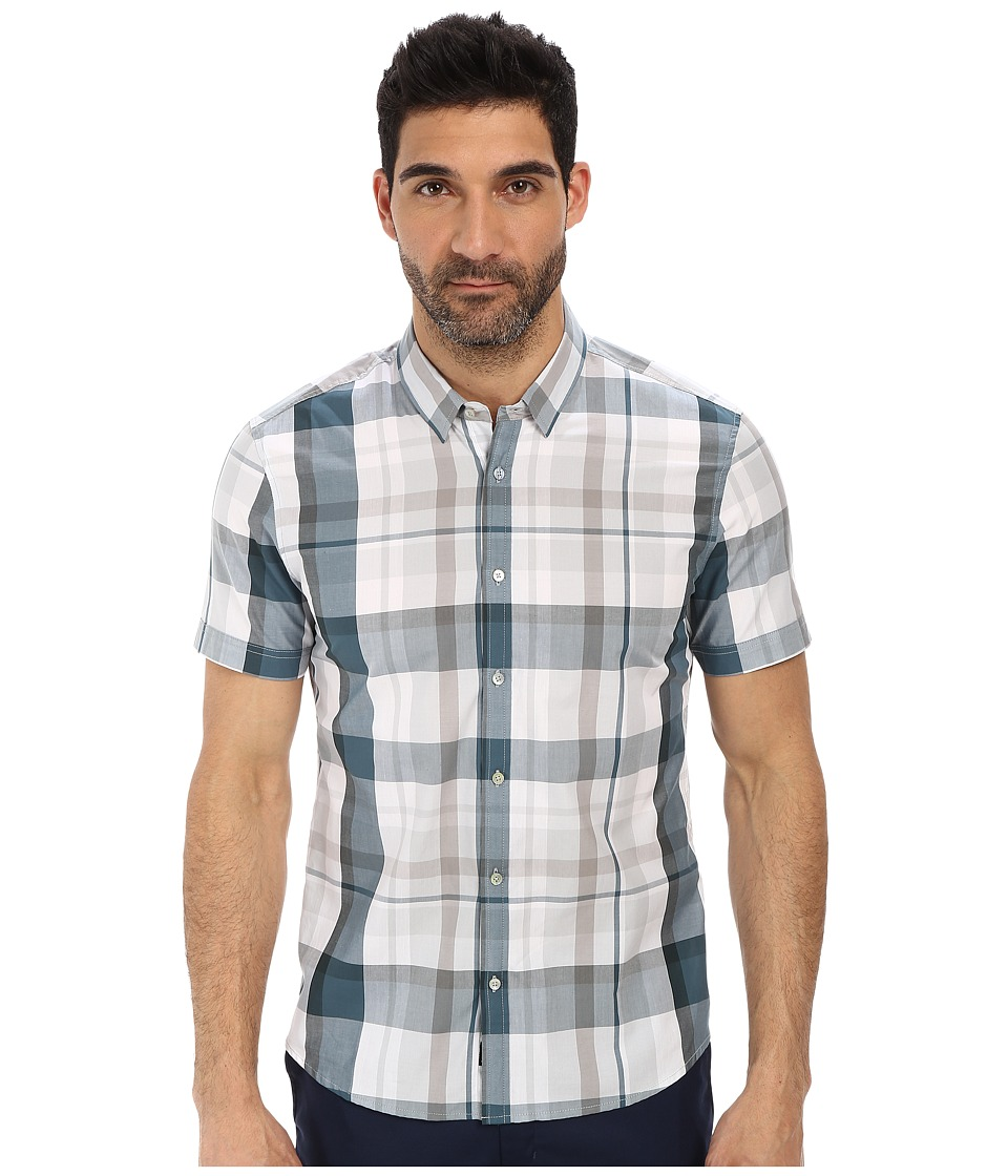 7 Diamonds - Teal Dreams Short Sleeve Shirt (Pine) Men