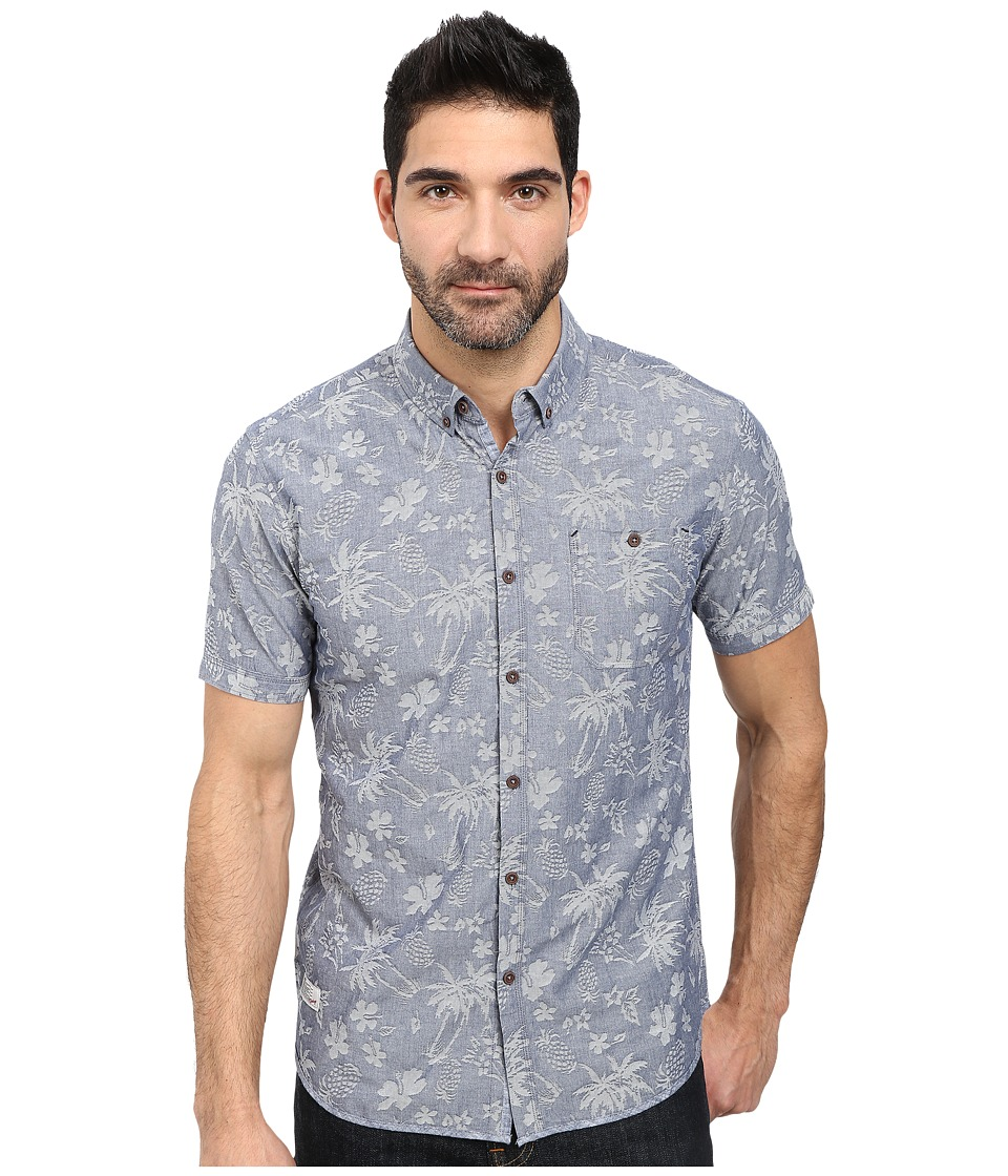 7 Diamonds - All Of The Stars Short Sleeve Shirt (Blue) Men's Short Sleeve Button Up