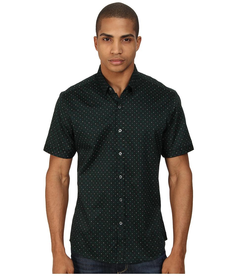 7 Diamonds - The Key Short Sleeve Shirt (Forest) Men