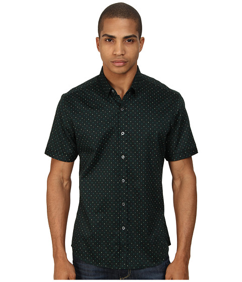 7 Diamonds - The Key Short Sleeve Shirt (Forest) Men's Short Sleeve Button Up
