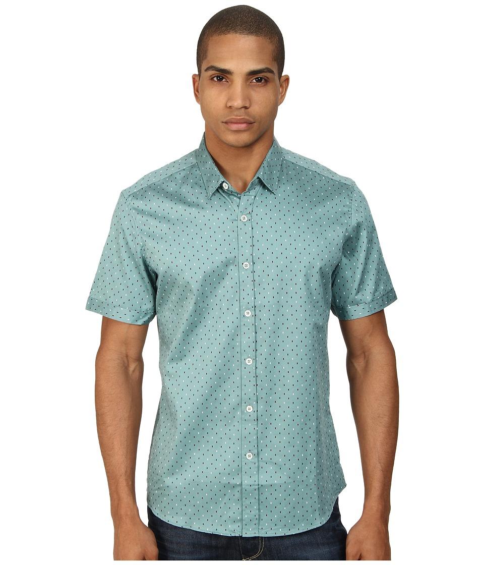 7 Diamonds - The Key Short Sleeve Shirt (Sea Green) Men's Short Sleeve Button Up
