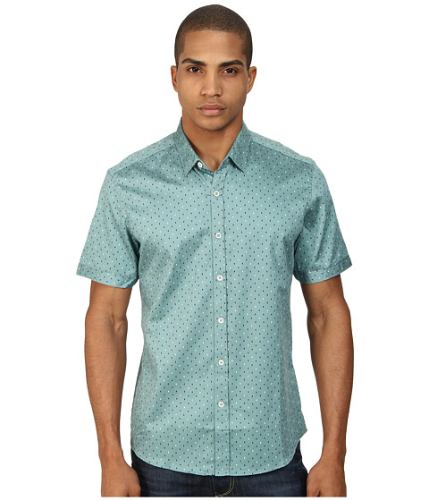 7 Diamonds - The Key Short Sleeve Shirt (Sea Green) Men