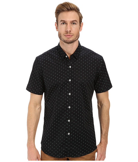 7 Diamonds - Sky Full Of Stars Short Sleeve Shirt (Black) Men's Short Sleeve Button Up