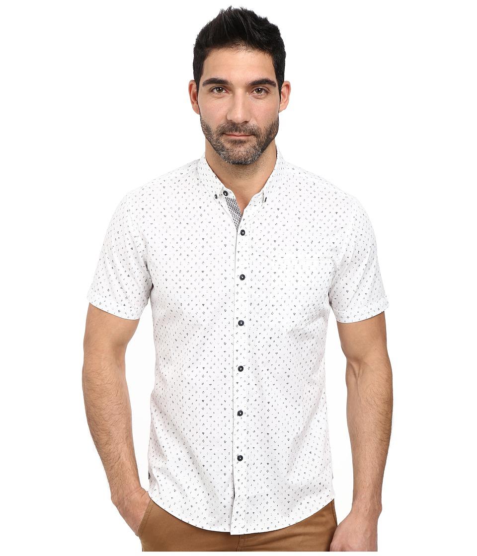7 Diamonds - Answers in The Sun Short Sleeve Shirt (White) Men