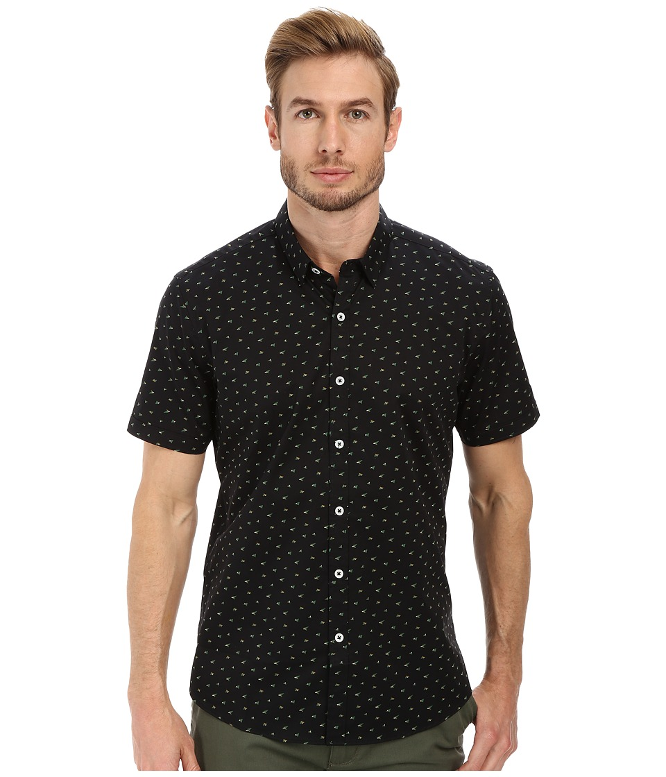 7 Diamonds - Rising Tide Short Sleeve Shirt (Black) Men's Short Sleeve Button Up