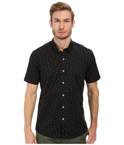 7 Diamonds - Rising Tide Short Sleeve Shirt (Black) Men
