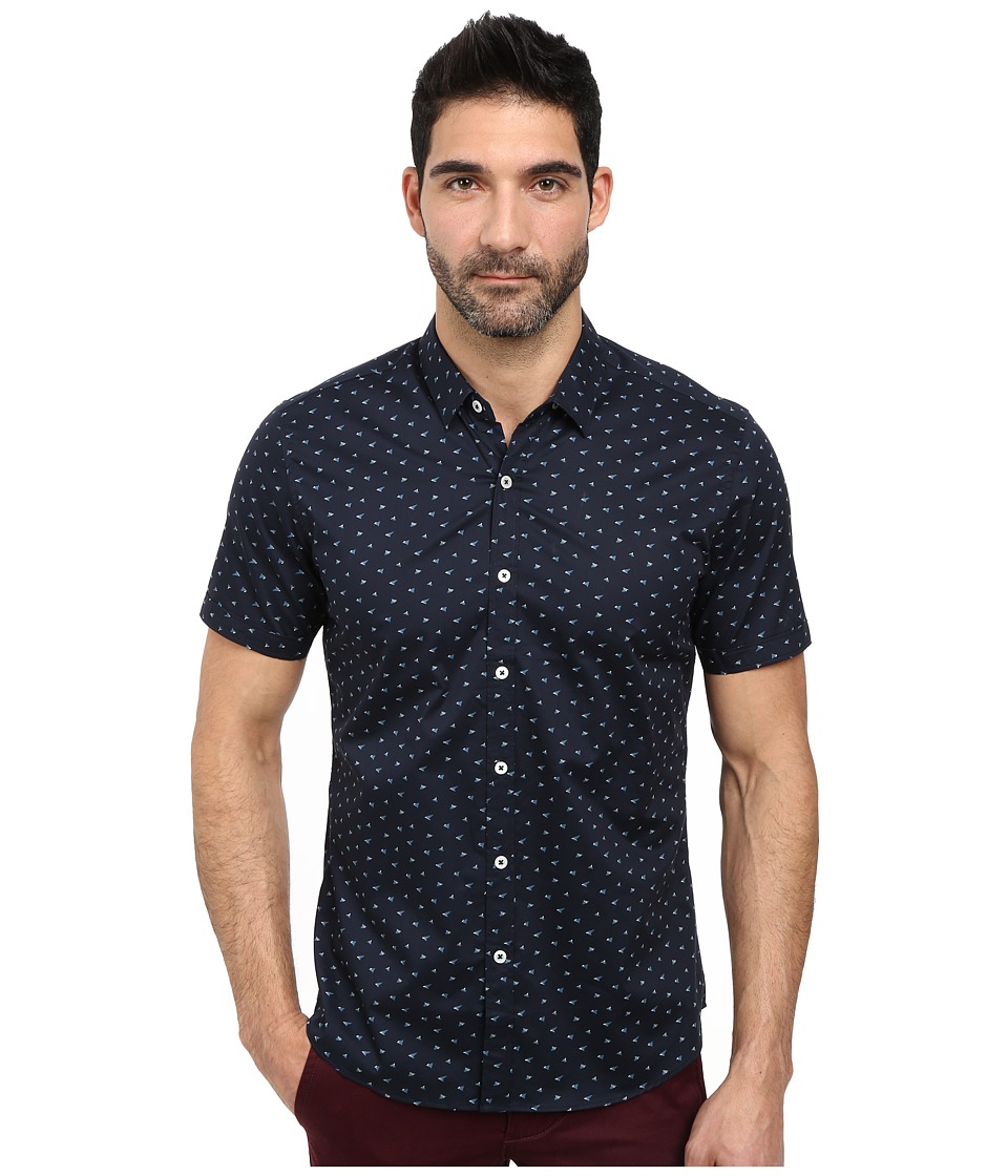 7 Diamonds - Rising Tide Short Sleeve Shirt (Navy) Men