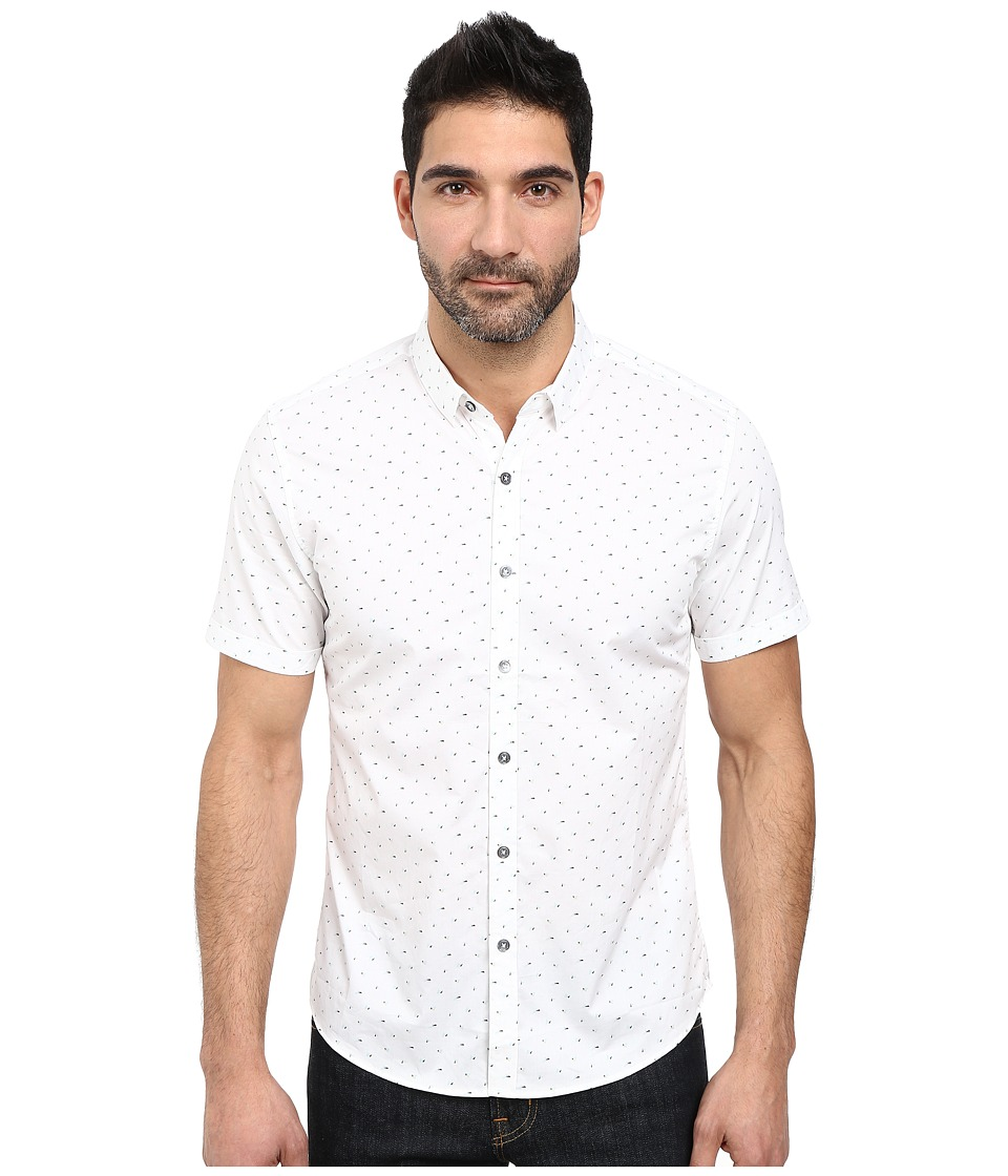 7 Diamonds - Rising Tide Short Sleeve Shirt (White) Men
