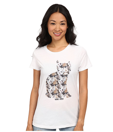 Vans - X Aspca Cat Collage Tee (Cats2) Women's T Shirt