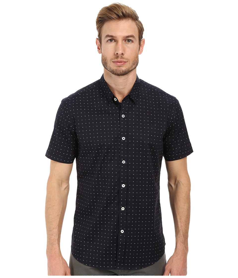 7 Diamonds - Ruby Love Short Sleeve Shirt (Navy) Men's Short Sleeve Button Up