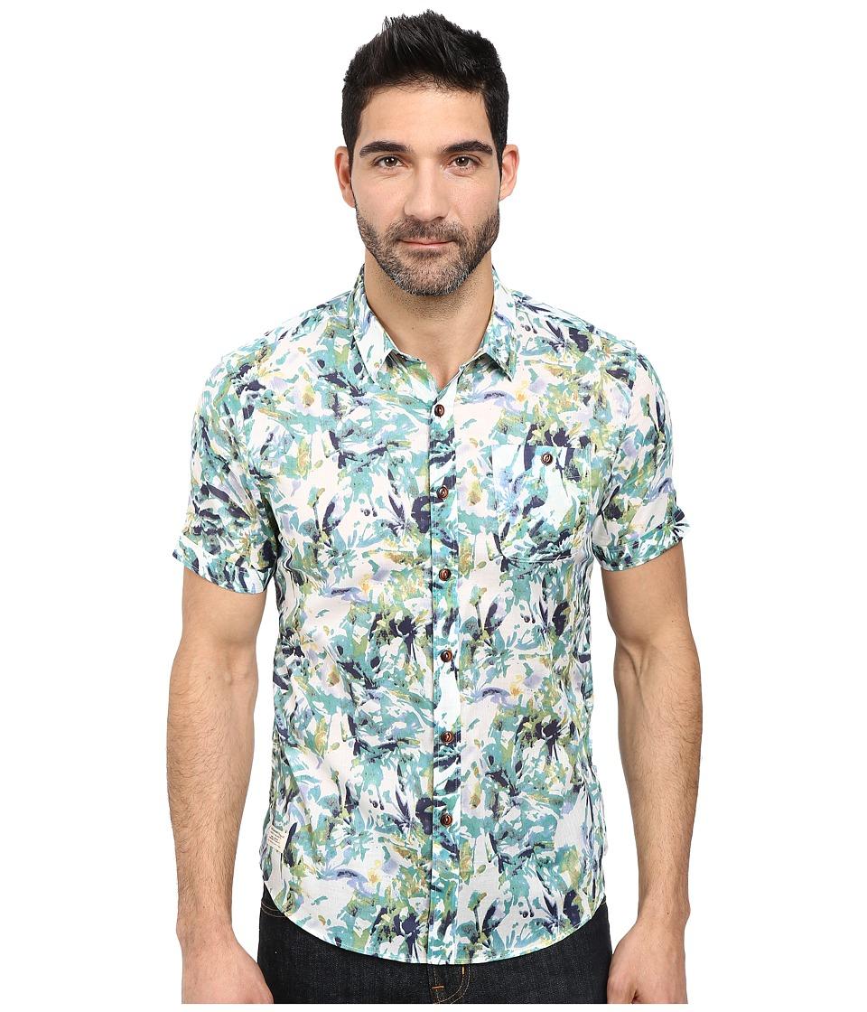 7 Diamonds - Santa Ana Winds Short Sleeve Shirt (Blue) Men