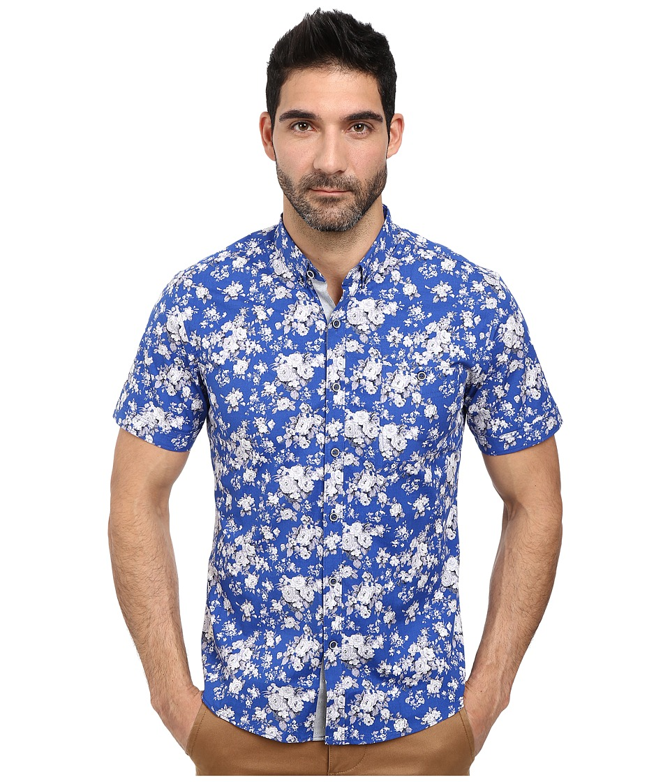 Image of 7 Diamonds - All Of Me Short Sleeve Shirt (Royal) Men's Short Sleeve Button Up