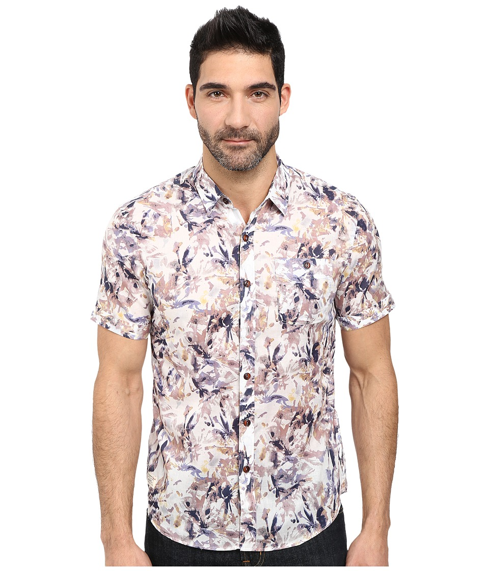 7 Diamonds - Neon Wilderness Short Sleeve Shirt (White) Men