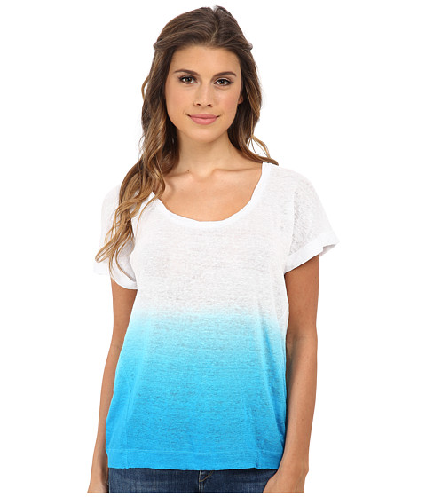 C&C California - Dip-Dye Tee (Blue Danube) Women's T Shirt