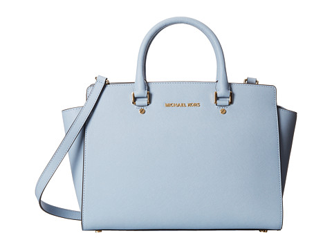 MICHAEL Michael Kors - Selma Large TZ Satchel (Pale Blue) Satchel Handbags