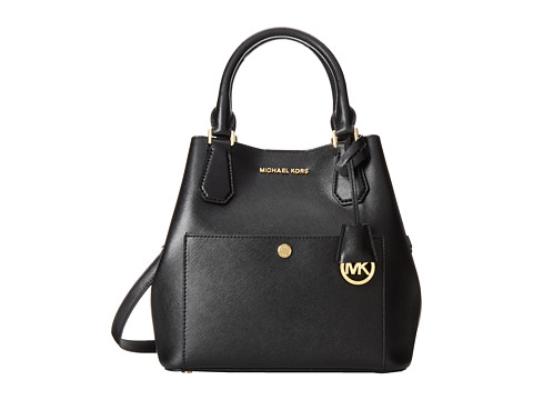MICHAEL Michael Kors - Greenwich Large Grab Bag (Black/Luggage) Bags
