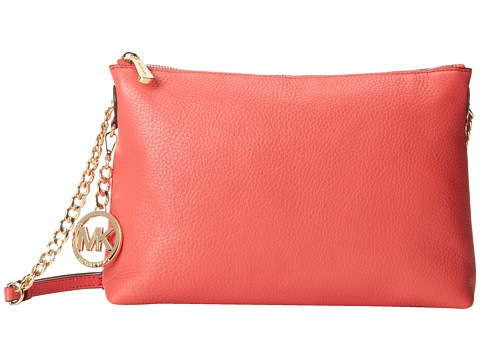 MICHAEL Michael Kors - Jet Set Chain Item Top-Zip Messenger (Watermelon) Messenger Bags