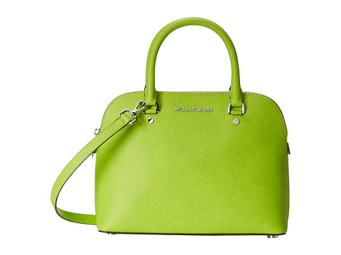 MICHAEL Michael Kors - Cindy Medium Dome Satchel (Pear) Satchel Handbags
