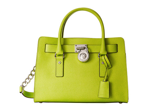 MICHAEL Michael Kors - Hamilton East/West Satchel (Pear) Satchel Handbags