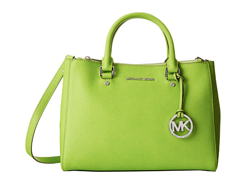 MICHAEL Michael Kors - Sutton Medium Satchel (Pear) Satchel Handbags